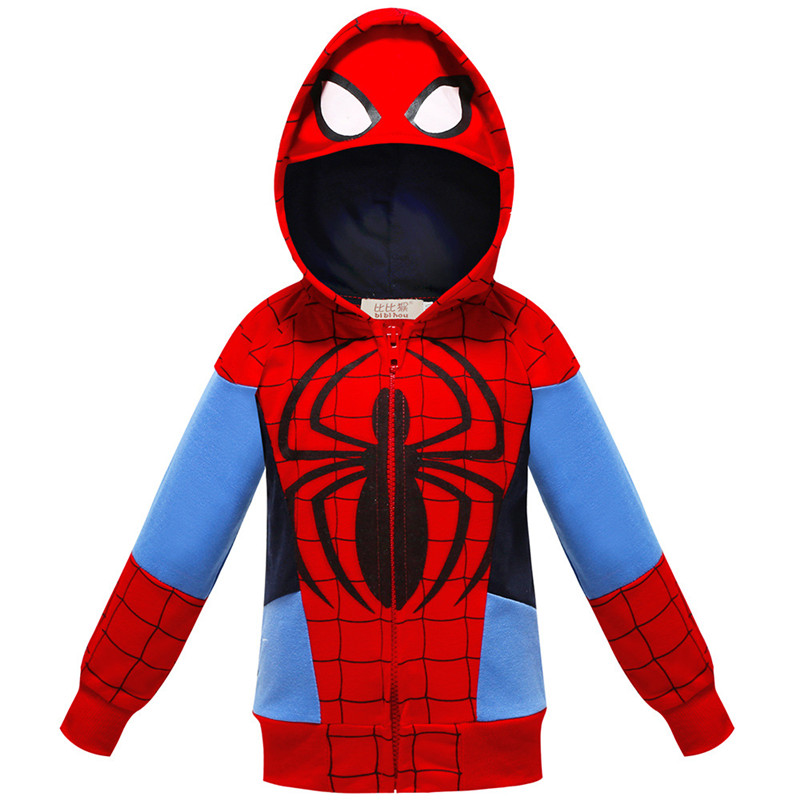 Toddler Kids Boy Marvel Superhero SpiderMan Hooded Outerwear Coats