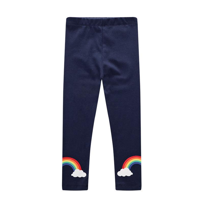 Toddler Kid Girl Print Rainbow Clouds Cotton Leggings Pants