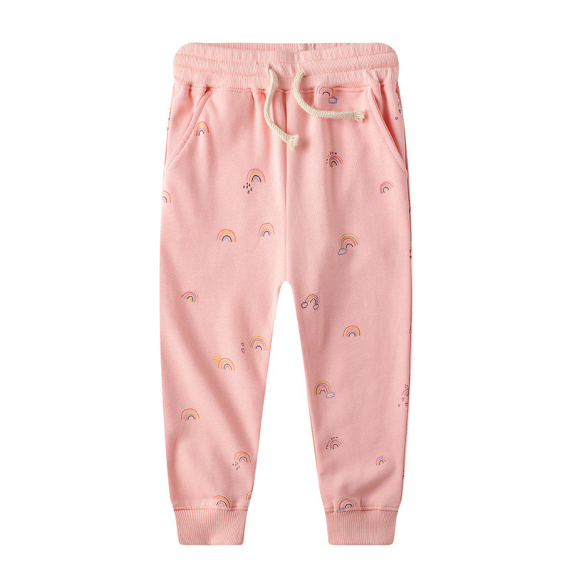 Toddler Kid Girl Pink Rainbow Cotton Leggings Pants