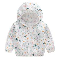 Toddler Kids Girl Print Matching Color Sunscreen Outerwear Coats