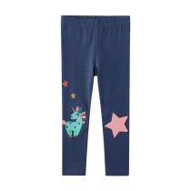 Toddler Kid Girl Embroidery Unicorn Stars Cotton Leggings Pants