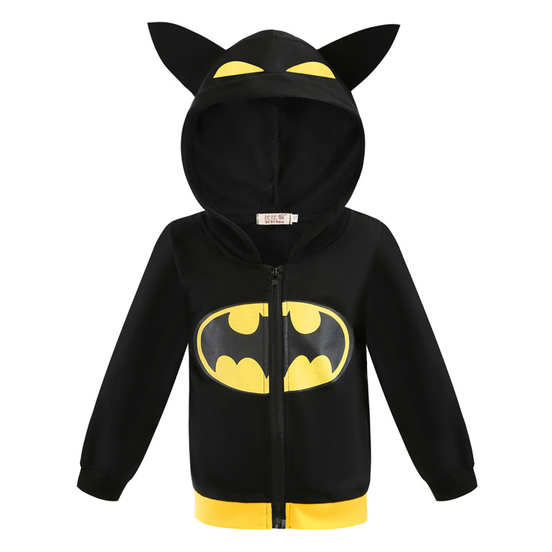 Toddler Kids Boy Marvel Superhero Bat Man Hooded Outerwear Coats
