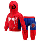 Toddler Kids Boy Spider-Man Hooded Sweatshirt Top Two-pieces Sets