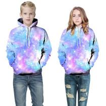 Toddler Kids Boy 3D Print Starry Sky Hooded Sweatshirts