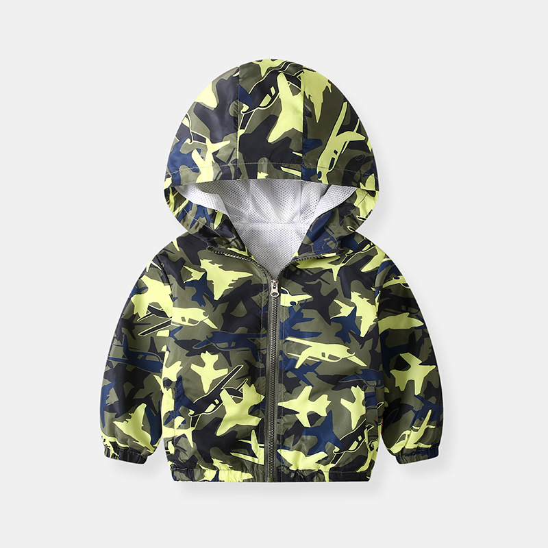 Toddler Kids Boy Print Airplanes Cars Outerwear Coats