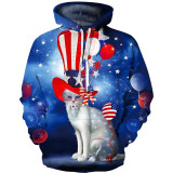 Toddler Kids Boy 3D Print Magician Cat Hooded Sweatshirts