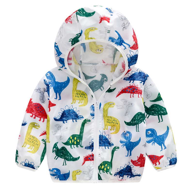 Toddler Kids Boy Print Dinosaurs Breathable Lightweight Sunscreen Outerwear Coats