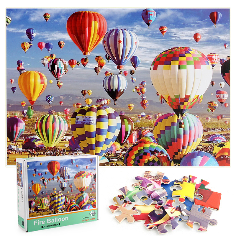 Hot Air Balloon Develop Creativity Play 1000 Pieces Cardboard Puzzles For Adults Kids