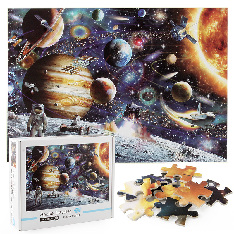 Space Stars Sky Exploration Develop Creativity Play 1000 Pieces Cardboard Puzzles For Adults Kids