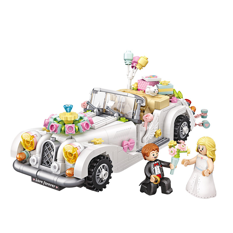 Ceative Play Mini Building Blocks Wedding Car Toys 676PCS For Kids 6+ Boys Girls Gifts