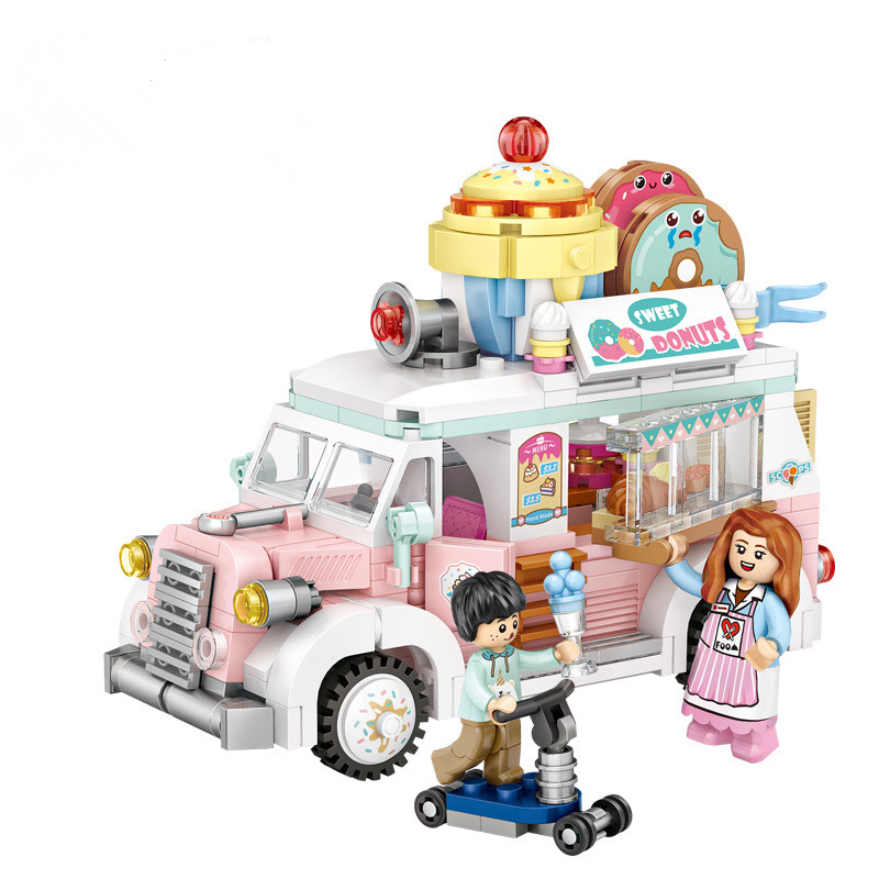 Ceative Play Mini Building Blocks Fruit Truck Toys For Kids 6+ Boys Girls Gifts