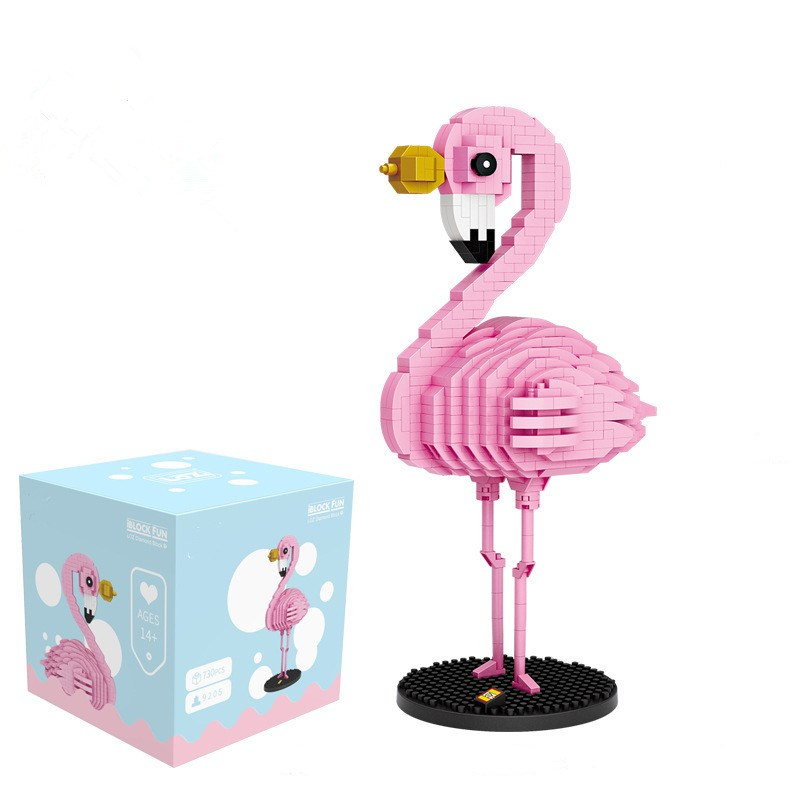 Ceative Play Mini Building Blocks Pink Flamingo Puzzles Toys 890PCS For Kids 6+ Boys Girls Gifts