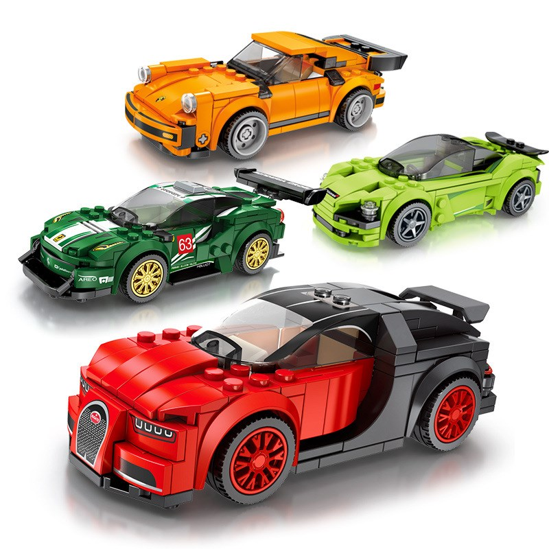 Ceative Play Building Mini Blocks Cars Kids 6+ Boys Girls Gifts