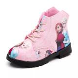 Kid Girl Print Frozen Princess Martin Ankle Boots