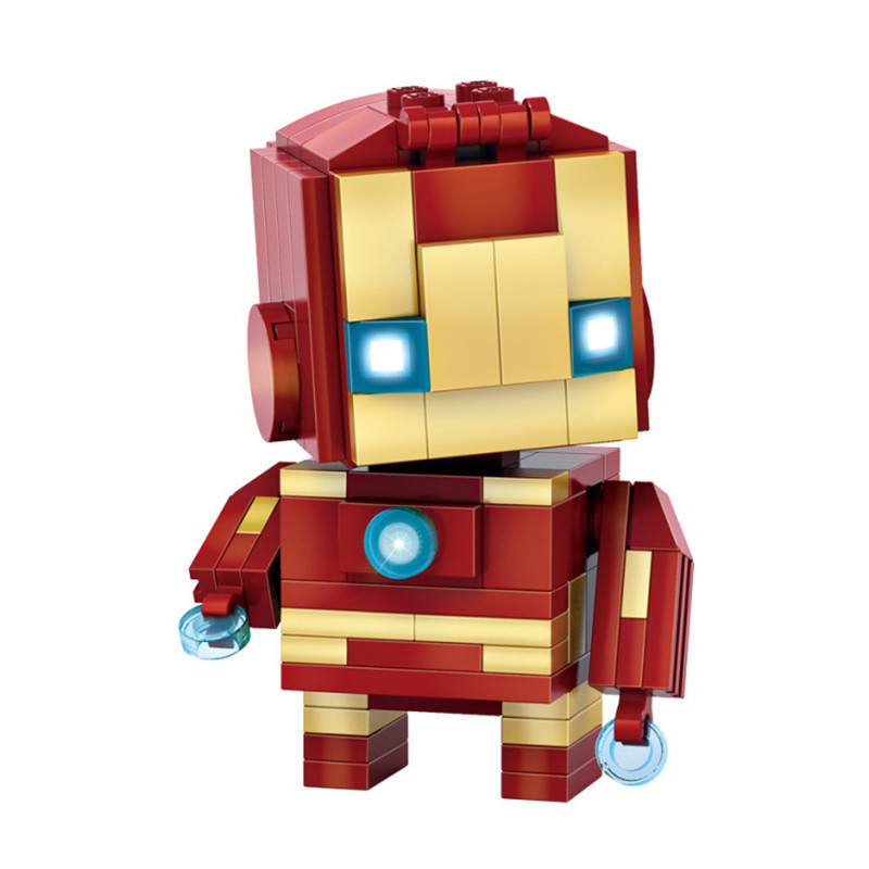Ceative Play Building Mini Blocks Cute Iron Man Kids 6+ Boys Girls Gifts