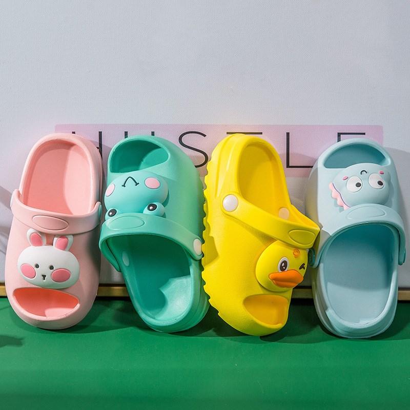 Toddlers Kids 3D Cartoon Duck Frog Rabbit Beach Home Summer Slippers