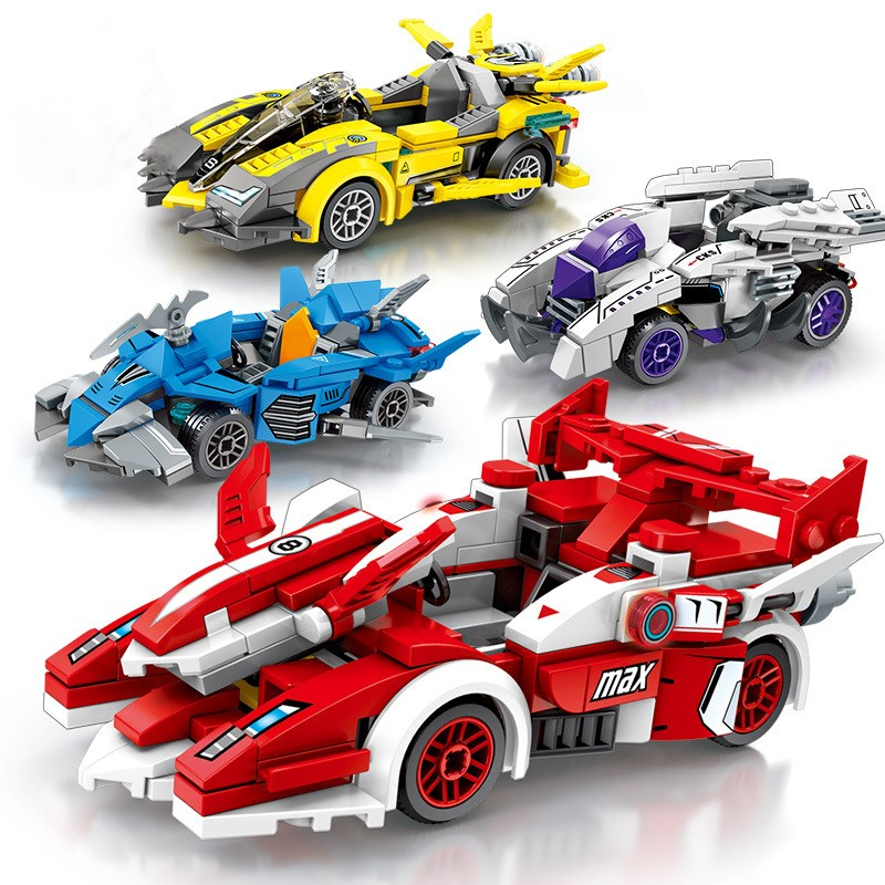 Ceative Play Building Mini Blocks Racing Car Kids 6+ Boys Girls Gifts