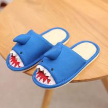 Toddlers Kids 3D Cartoon Shark Fiberflax Home Slippers