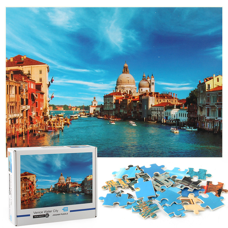 Venice Water City Develop Creativity Play 1000 Pieces Cardboard Puzzles For Adults Kids