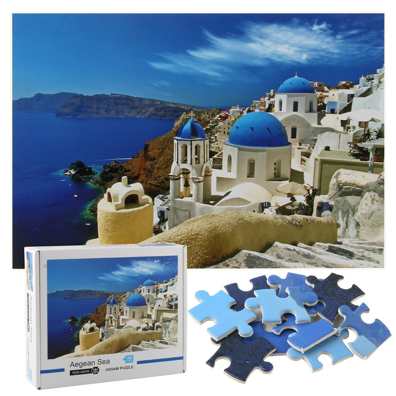 Aegean Sea Develop Creativity Play 1000 Pieces Cardboard Puzzles For Adults Kids