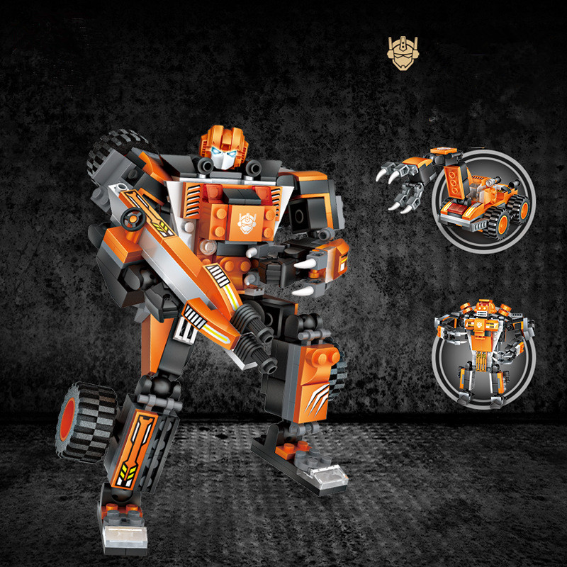 Ceative Play Building Blocks Transformation Robot Puzzles Toys Kids 6+ Boys Girls Gifts