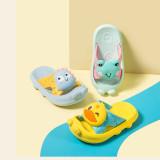 Toddlers Kids 3D Cartoon Duck Frog Rabbit Dinosaur Animal Beach Home Summer Slippers