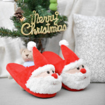 Toddlers Kids Santa Claus Flannel Warm Winter Home House Slippers For Kids and Parents
