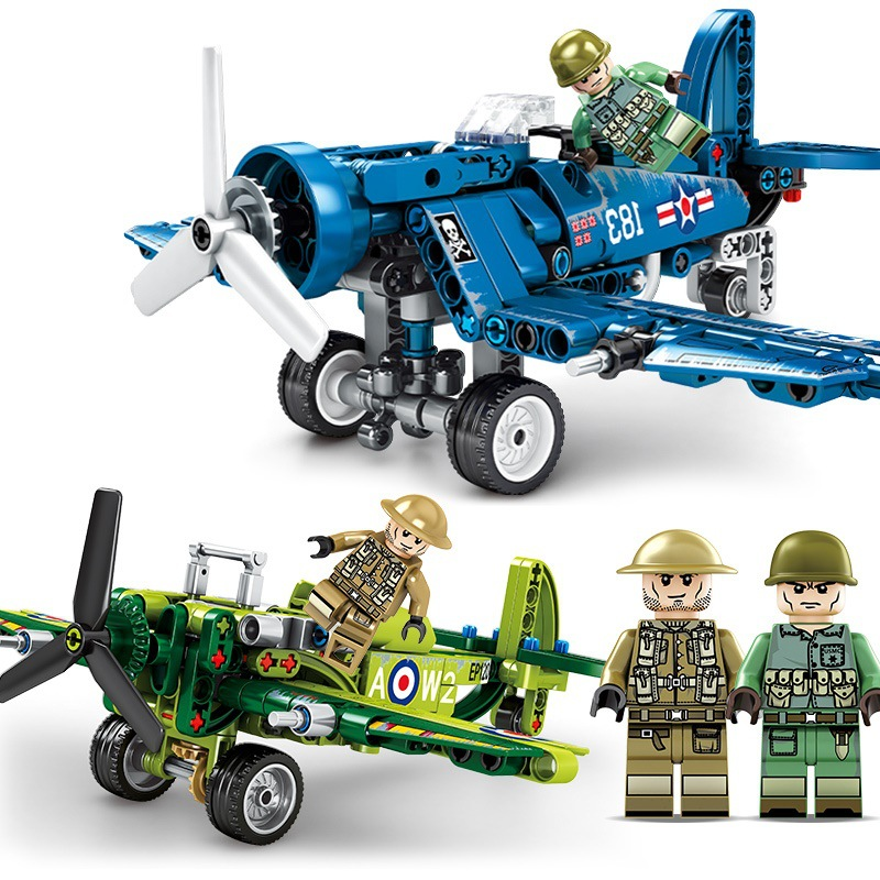 Ceative Play Building Blocks Military Assembly Fighter Toys Kids 6+ Boys Girls Gifts