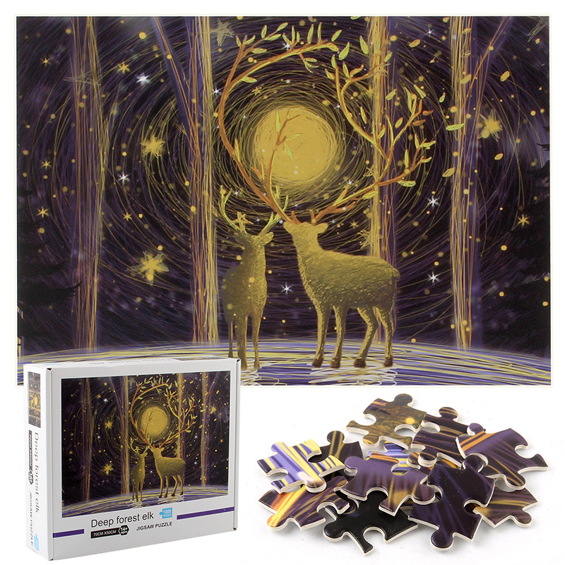 Deer Develop Creativity Play 1000 Pieces Cardboard Puzzles For Adults Kids