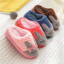 Toddlers Kids Rabbits Flannel Warm Winter Home House Slippers For Kids and Parents