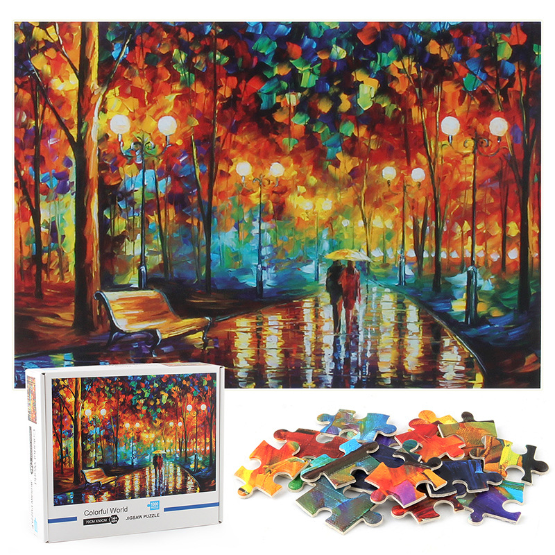 Colorful World Develop Creativity Play 1000 Pieces Cardboard Puzzles For Adults Kids