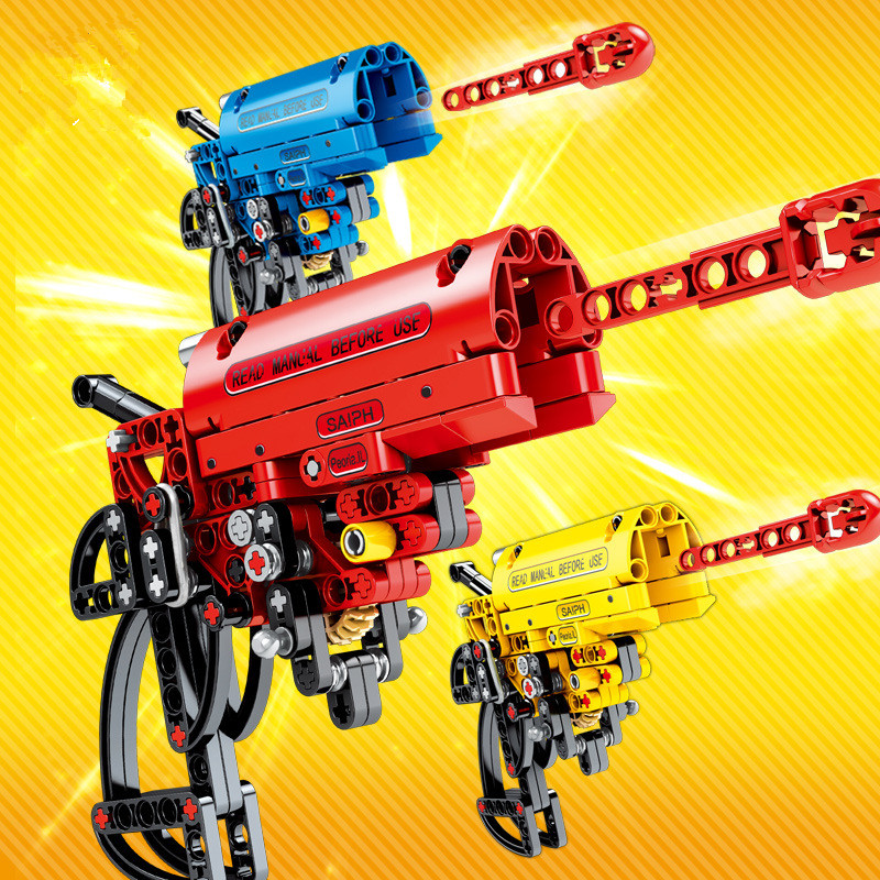 Ceative Play Building Blocks Toy Gun Set Toys Kids 6+ Boys Girls Gifts