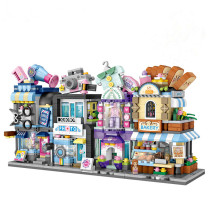 Ceative Play Building Blocks Street View Architecture Puzzles Toys For Kids 6+ Boys Girls Gifts