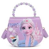 Frozen Fashion Crossbody Imperial Crown Shoulder Handbag for Toddlers Kids