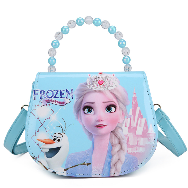 Frozen Fashion Crossbody Imperial Crown Shoulder Handbag for Toddlers Kids