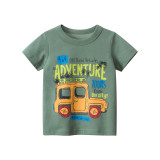 Toddle Kids Boys Print Slogans Cute Car Cotton T-shirt