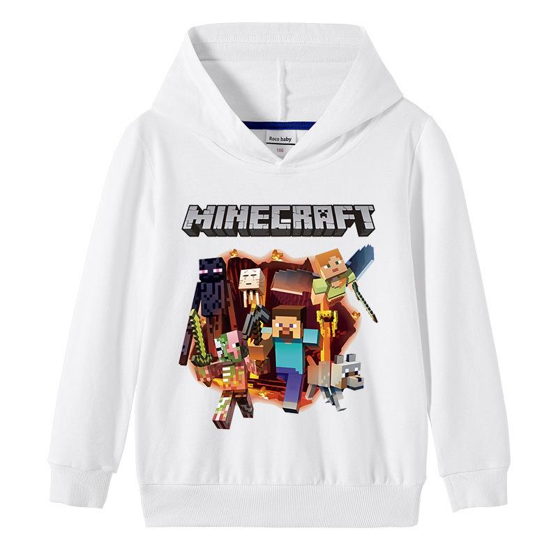 Toddler Boy Print Minecraft Hooded Sweatshirts Tops
