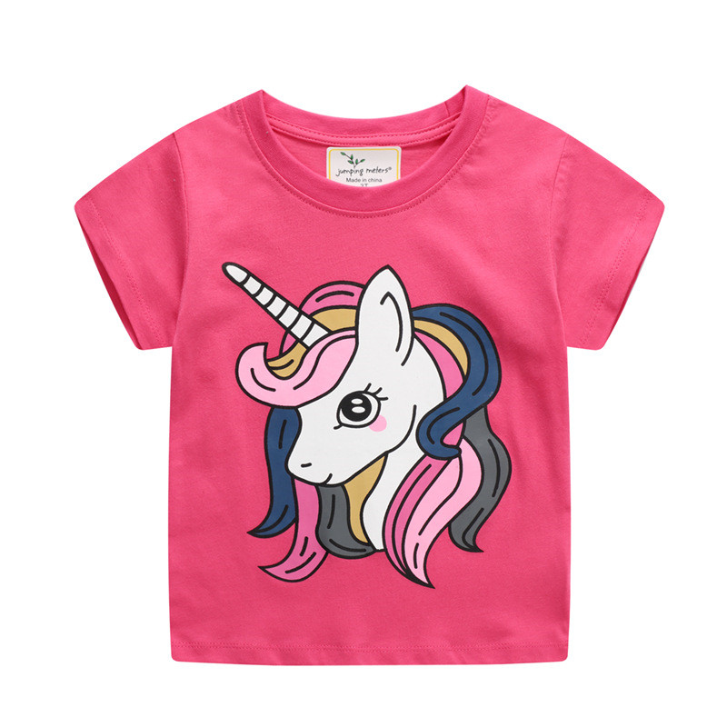 Toddle Girls Print Unicorn Pink T-shirt
