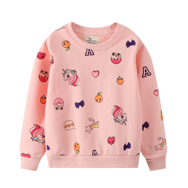 Toddler Girl Lovely Unicorns Long Sleeve Pullover Sweatshirts Tops
