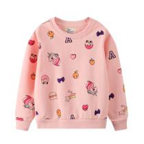 Toddler Girl Lovely Unicorns Long Sleeve Pullover Sweatshirts Tops