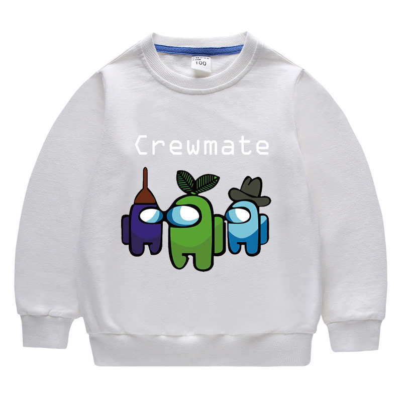 Toddler Kids Boy Among Us Crewmate Pullover Cotton Sweatshirt Top