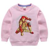 Toddler Kids Boy Cartoon Iron Man Hero Pullover Cotton Sweatshirt Top