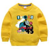 Toddler Kids Boy Cartoon Thomas Train Pullover Cotton Sweatshirt Tops