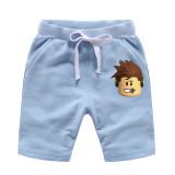 Toddle Boys Print Roblox Cotton Drawstring Shorts