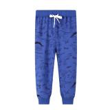 Toddler Kids Boy Print Dinosaurs Casual Cotton Blue Pants