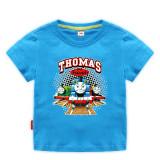 Toddle Kids Boys Cartoon Thomas Train Cotton T-shirt
