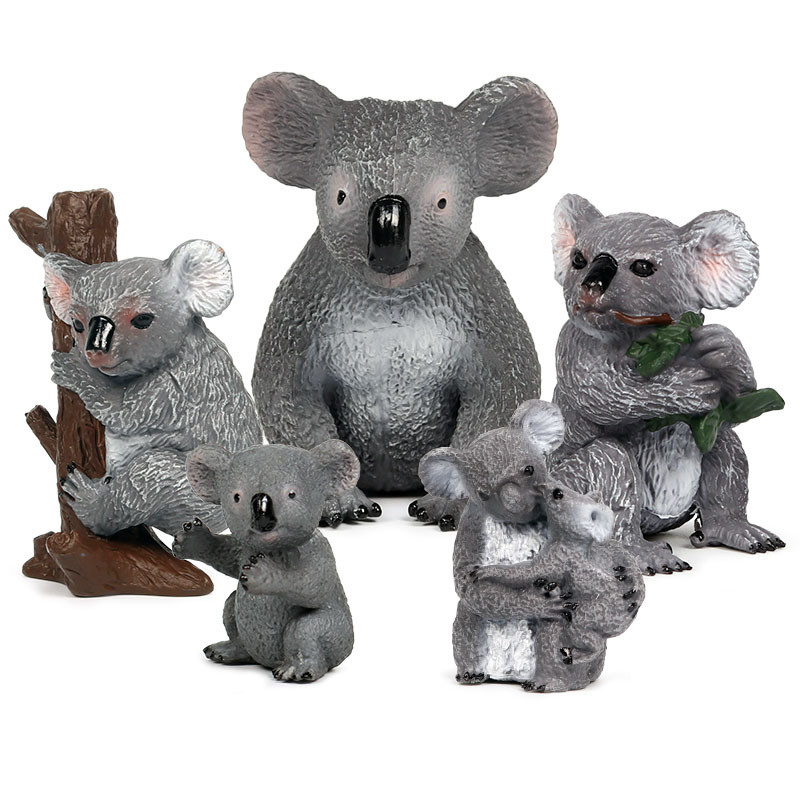 Educational Realistic Koala Animals Figures Playset Toys