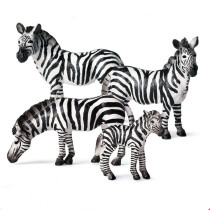 Educational Realistic 4PCS Wildlife Zebras Figures Playset Toys
