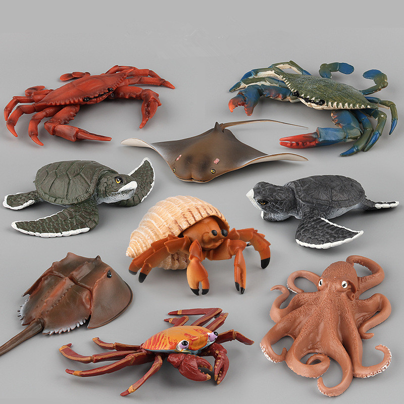 Educational Realistic 9PCS Sea Animals Model Figures Playset Toys
