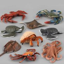 Educational Realistic 9PCS Sea Animals Model Figures Playset Toys